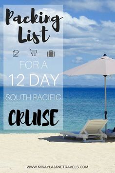 Packing List For A South Pacific Cruise | Best Tips For A Cruising Vacations | Cruising Vacation Hacks | Travel Packing Tips| www.mikaylajanetravels.com