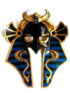Horus Leather Mask por mrhydesleather en Etsy