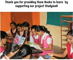 Thank you for providing them Books to learn  by supporting our project Studymall.To know more www.thinksharpfoundation.org