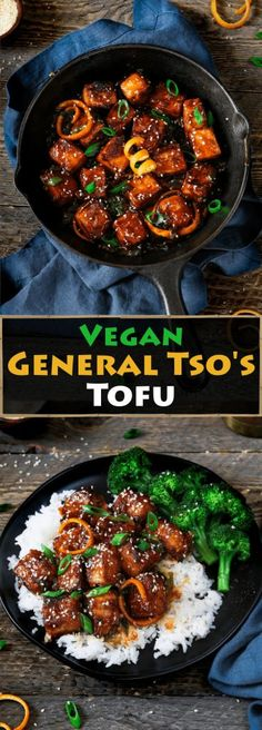 This General Tso's Tofu recipe is from Chloe Coscarelli's new cookbook Chloe Flavor. It's crispy, spicy, sticky-sweet and full of umami flavor. #vegan #glutenfree #tofu