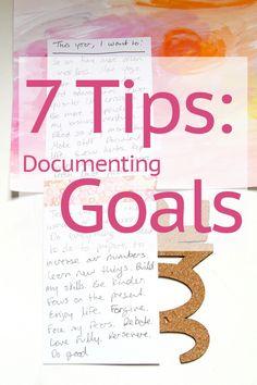 7 Tips for Documenting Goals | The Nerd Nest