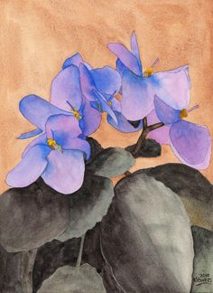 paintings in violet images | African Violet Painting by Ken Powers - African Violet Fine Art Prints ...
