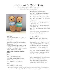 Best 12 Just sharing ( knitting ) SL – Page 368169338285903959 – SkillOfKing.Com Best 12 Just sharing ( knitting ) SL – Page 368169338285903959 – SkillOfKing. Baby Knitting Patterns, Teddy Bear Knitting Pattern, Knitted Doll Patterns, Knitted Teddy Bear, Knitted Dolls, Crochet Toys, Crochet Patterns, Knit Crochet, Knitting For Charity