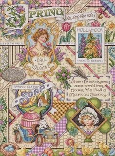 Janlynn Counted Cross Stitch Kit, Spring Sampler