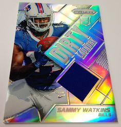 #Bills Rookie WR Sammy Watkins reminds himself of another household chore yet to be done on this card from Panini America's 2014 Prizm Football Retail.