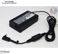 Genuine Original Acer 65W AC Adapter Power Charger 19V 3.42V 3.0mmx1.1mm