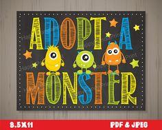 Adopt a Monster Certificate Monster Adoption Certificate Adopt