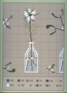 Cross-stitch Small Flower Vases Set, part 3...   color charts on part 2 & 3...   Gallery.ru / Фото #44 - 15 - Viki-Kitti