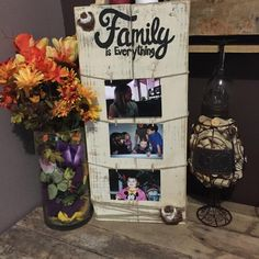 What a great way to show display pictures of your family!! All signs are done free hand and can be custom made to fit your needs. Dimensions are about 24 long and 11 wide. ***All items are one of a ki More