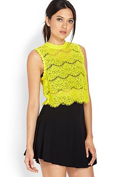 Dainty Crochet Lace Crop Top   FOREVER21 - 2000070730