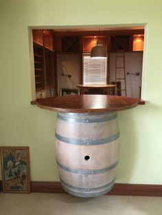 Wine barrel with Kiaat top looking into wine cellar Wine Cellar, Cupboard, Barrel, Bathtub, Top, Riddling Rack, Clothes Stand, Standing Bath, Armoire