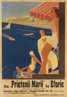 """ROMANIA - CU """"PRIETENII MARII"""" LA EFORIE. Circa 1930."""