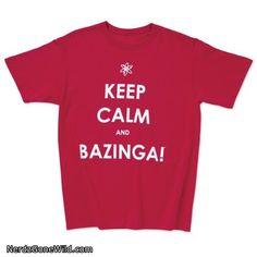 Big Bang Theory Keep Calm Bazinga T-shirt