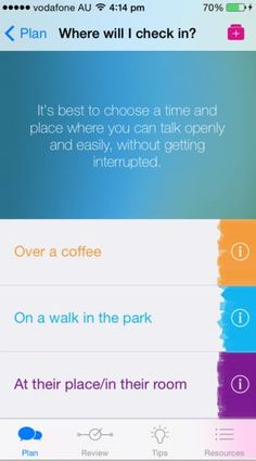 the check in plan a check in with a friend you are concerned about app