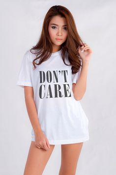 Don't Care Shirt Hipster Grunge Trendy Womens Clothing Cool Fashion Gift Girls Women Tshirt Funny Cute Teens Dope Teenagers Tumblr Blogger
