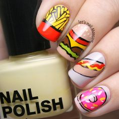 веселые fast food nails :)