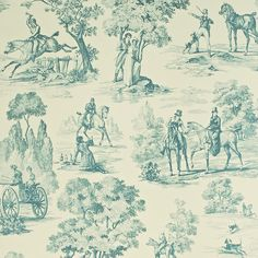 Hate hunting but love this Sanderson Wallpaper