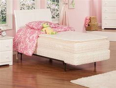 Portland White Solid Wood Twin Panel Headboard Only