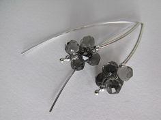 Black Diamond Swarovski Crystal Contemporary by SilverManiaStudio, $24.00