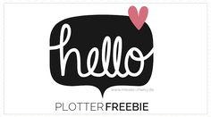 #plotterfreebie #hello