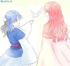 Akatsuki no Yona anime and Manga fanart by https://mobile.twitter.com/LAFID_P Hiryuu and Seiryuu