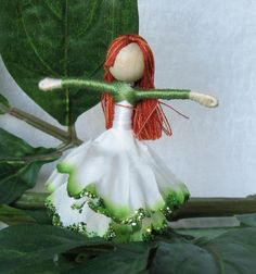 Yellow Tulip Fairy - Waldorf Flower Fairy Doll. $16.00, via Etsy.