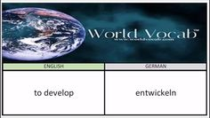 to develop - entwickeln German Vocabulary Builder Word Of The Day #161 ! Full audio practice at World Vocab™! https://video.buffer.com/v/57dbdd892fe9d04f10f3fbcf