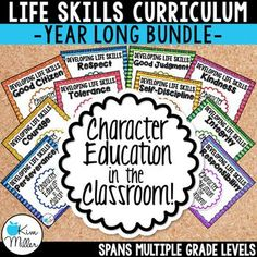 Teach your students important life skills with this Character Education in the Classroom Bundle which includes 10 classroom posters and 20 printables for students. There are 10 character traits included in the bundle.