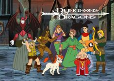Dungeons and Dragons my favorite cartoon in the 80s!!!