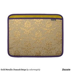 Gold Metallic Damask Beige Sleeve For MacBook Air