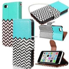 Apple iPhone 6 (4.7) & 6 Plus(5.5) PU Mint  Leather Wallet Credit Card Case