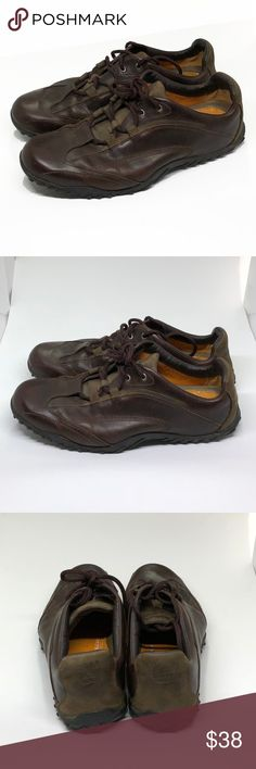 2369eb258a3 Timberland Sz 7.5 M Brown Leather Oxford Shoes Timberland Men s Sz 7.5 M  Dark Brown Leather