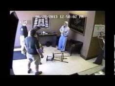 Store owner knocks out robber with a baseball bat! (Original Video)