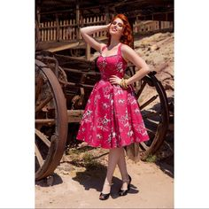 Pinup Couture Ginger Dress In Red Western