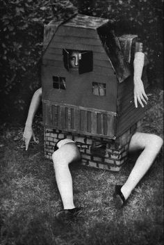 """Alice (stuck) in Wonderland"" and other great ideas for Halloween costumes on here: http://assez-vu.com/2012/10/31/vintage-wtf-25-ideas-for-halloween-costumes/"