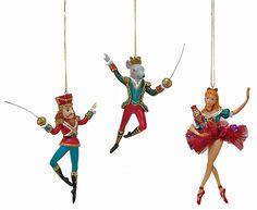 Amazon.com: Katherine's Collection Nutcracker Suite Hanging Ornaments (Set/3)…