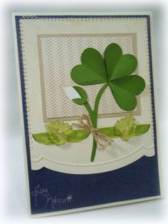 Hearts and Shamrocks by Lisa Ku - Cards and Paper Crafts at Splitcoaststampers