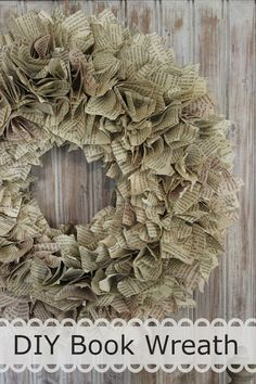 Happy At Home: Paper Wreath Tutorial