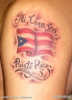 Puerto rican flag tattoo picture skin tear tattoos for Henna tattoo in puerto rico