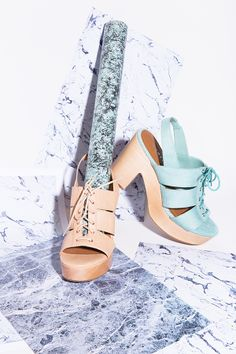#ShoeCult Cybill Sandal in Nude & Mint