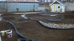 Backyard Radio Control race track: