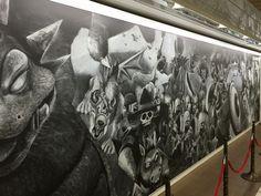巨大な「ドラクエ」黒板アート、かいしんの一撃でモンスター一掃なるか。   Narinari.com