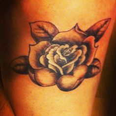 Tattoo I did on my leg :) #tattoo #rose