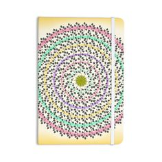 "Famenxt ""Leafy Watercolor Mandala"" Pastels Abstract Everything Notebook"