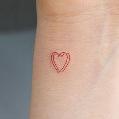 Tiny Tattoos For Girls, Cute Tiny Tattoos, Dainty Tattoos, Little Tattoos, Pretty Tattoos, Small Tattoos, Red Ink Tattoos, Baby Tattoos, Dope Tattoos