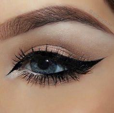 beauty eye makeup cosmetics glam smokey winged eyeliner