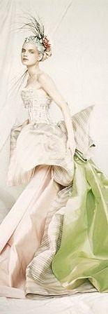 Paolo Roversi, Guinevere in a Nina Ricci, Haute Couture dress, Paris, 1996