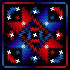 Twister Shimmer quilt pattern by Marilyn Foreman | Quilt Moments