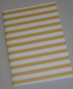 Yellow Nautical Stripe Notebook by inkmeetspaperdesign on Etsy, $10.00