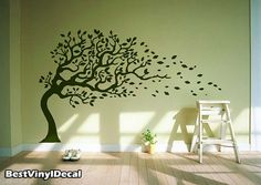 Vinyl Wall Decal Nature Design Tree Wall Decals by BestVinylDecal